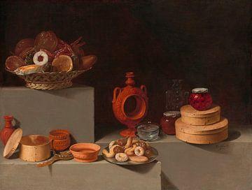 Stilleben mit Süßigkeiten und Keramik, Juan van der Hamen y León