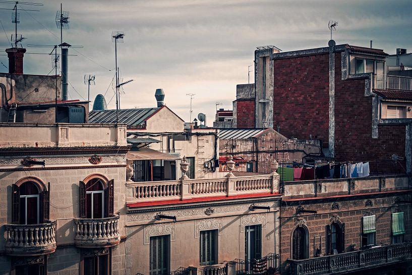 Barcelona - Roofscape van Alexander Voss