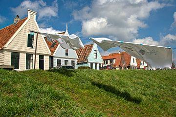 Durgerdam - drogende was van Maarten de Waard