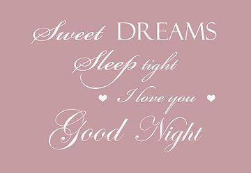Sweet dreams - Roze van Sandra H6 Fotografie