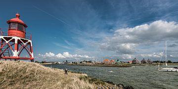 Entrée du port IJsselmeer de Stavoren en Frise sur