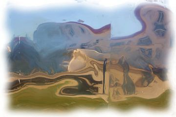 Place de village abstraite sur Maurice Dawson