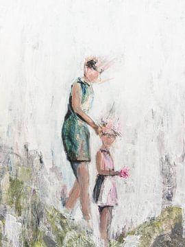 Mère et fille sur Henriëtte Mosselman