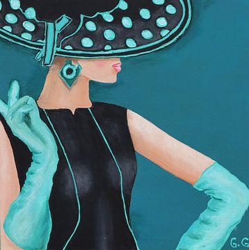 Dame mit Hut von Gulserin Gokcan