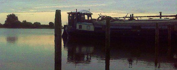 Ochtendschemering op het Lauwersmeer van Frans Jonker