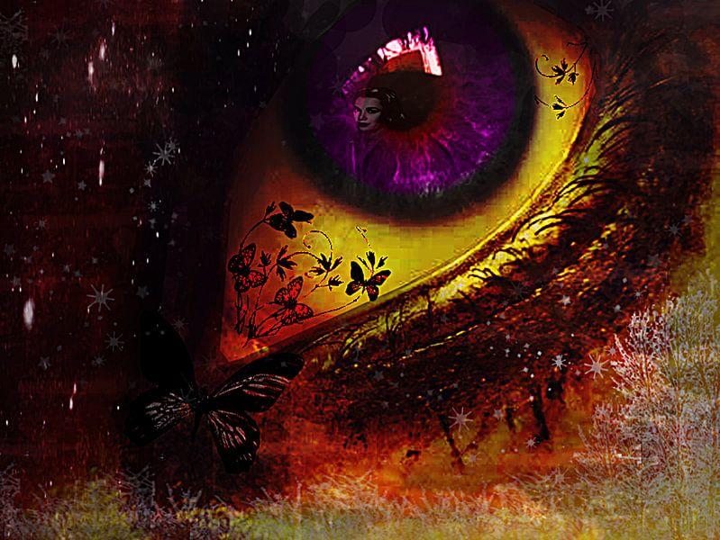 Fairy_night_eye_ von Yvon van der Wijk
