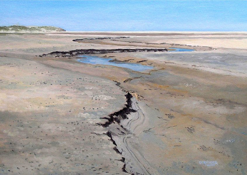 De Slufter Texel, olieverf op doek