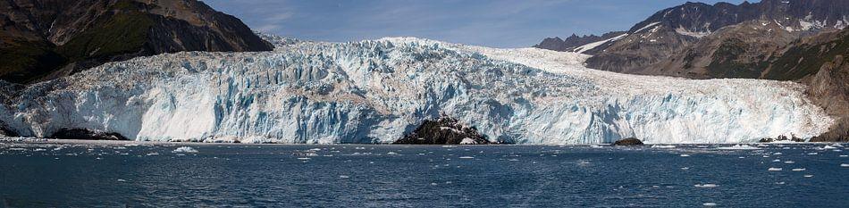 Panorama van de Aialik gletsjer  van Menno Schaefer