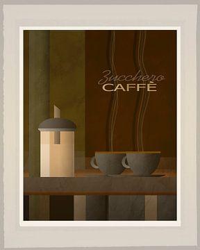Zucchero Caffe - Art Deco van Joost Hogervorst