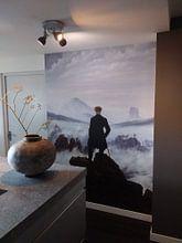 Kundenfoto: Der Wanderer über dem Nebelmeer, Caspar David Friedrich, auf nahtlose tapete