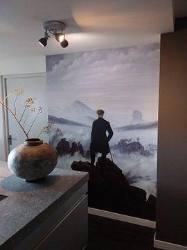 Klantfoto: De wandelaar boven de nevelen, Caspar David Friedrich