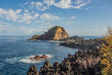 Landschaft Madeira - Felsen im Meer von Bianca Kramer