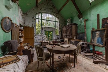 Kunst atelier met prachtig raam van William Linders