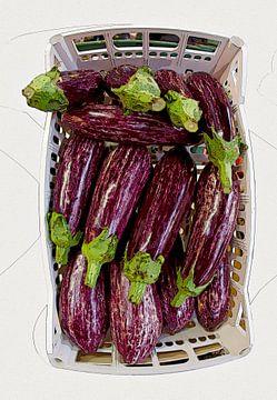 Eggplants van Leopold Brix