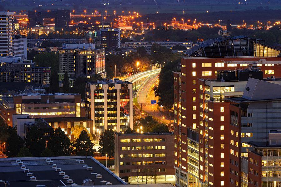 Zicht op Graadt van Roggenweg in Utrecht van Donker Utrecht