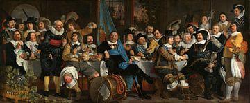 Schuttersmaaltijd ter viering van de Vrede van Munster, Bartholomeus van der Helst van Meesterlijcke Meesters