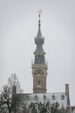 Rathausturm im Schnee von Percy's fotografie