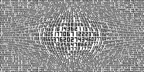 Zahlen,Ziffern van Marion Tenbergen