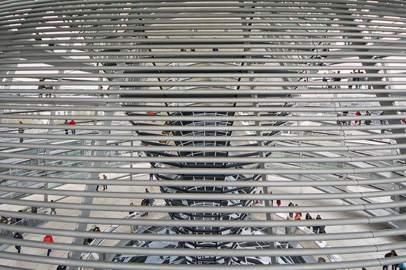 Koepel op de Rijksdag in Berlijn van Foto Amsterdam / Peter Bartelings