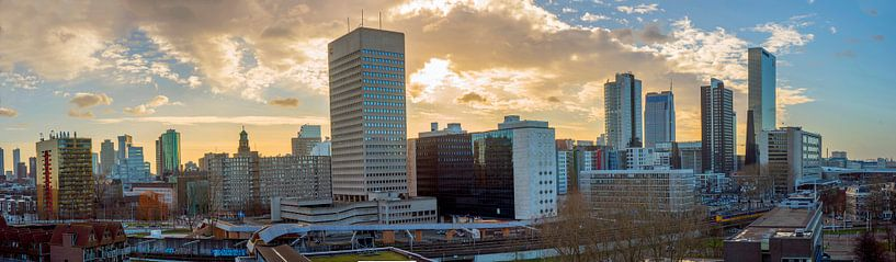 Panorama Rotterdam von Fred Leeflang