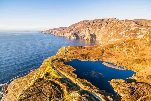 Uitzicht op Slieve League Ierland van dron inger