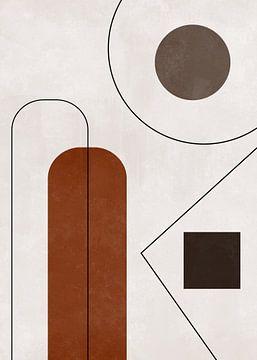 Abstrakte Kunst mit geometrischen Formen von Diana van Tankeren