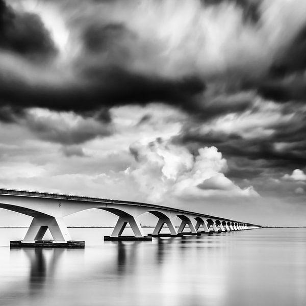 Lange sluitertijd Zeelandbrug (IX) van Mirjam Boerhoop - Oudenaarden