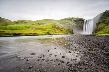 De machtige Skogafoss in IJsland!