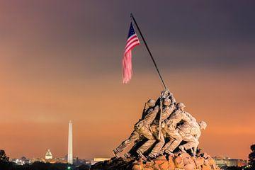 US Marine Corps War Memorial, Iwo-Jima Memorial van Henk Meijer Photography