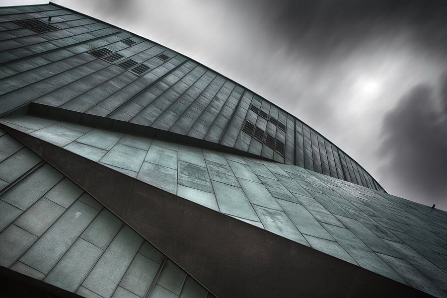 Abstracte architectuur in Rotterdam