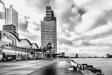 Cruise terminal Rotterdam Wilhelminapier Zwart wit  von Midi010 Fotografie