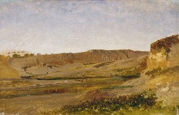 Carlos de Haes-Stromlandschaft in der Schlucht, Antike Landschaft