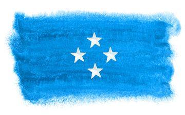 Symbolische nationale vlag van Micronesia van Achim Prill