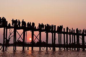 Wandelen bij zonsondergang