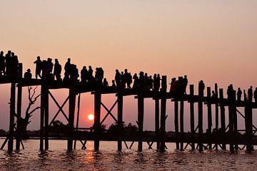 Wandelen bij zonsondergang van Affectfotografie