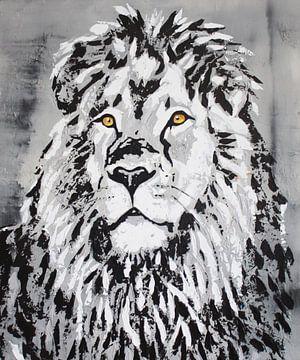 Hoofd Leeuw van Kathleen Artist Fine Art