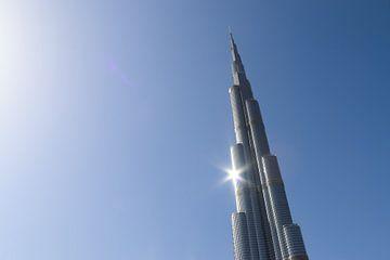 Een zonnige dag in Dubai bij de Burj Khalifa