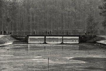 Brug over ijs. Park Tervuren von Manuel Declerck