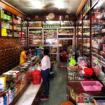 Een winkel interieur in Bangkok von SPOOR Spoor