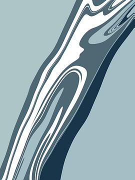 Abstracte afbeelding blauwe tinten van Sophia Amend