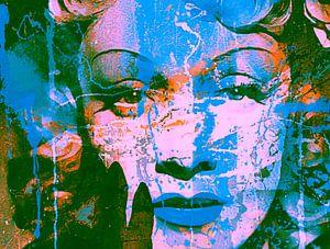 Marlene Dietrich Collage Splash Pop Art PUR