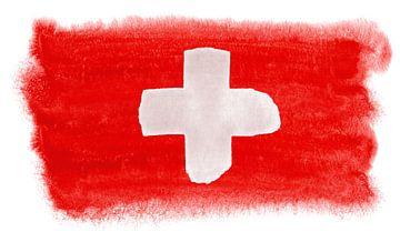 Symbolische nationale vlag van Zwitserland van Achim Prill
