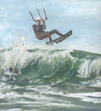 Kitesurfer van Yvon Schoorl