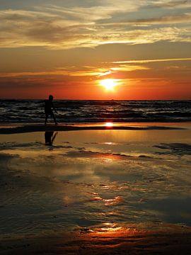 Sonnenuntergang  Bergen aan Zee von Jessica Berendsen