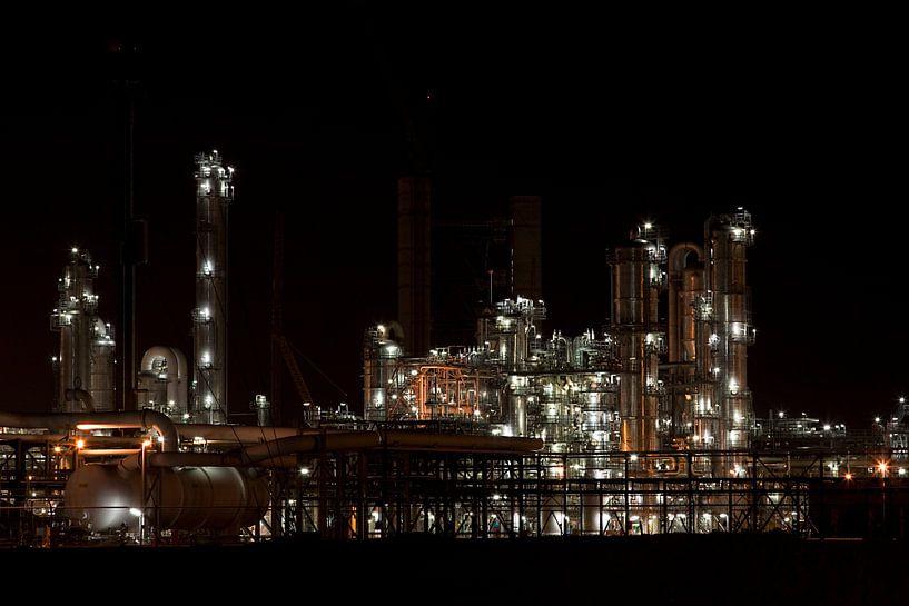 Petrochemie in de nacht sur Guido Akster