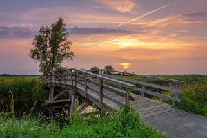 Zonsondergang Sandebuur Drenthe