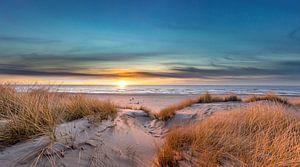 Paal 17 Texel zonsondergang