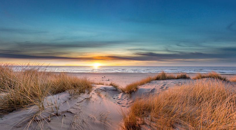 Paal 17 Texel zonsondergang van Texel360Fotografie Richard Heerschap