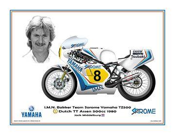 1980 Dutch TT Assen Yamaha Yamaha TZ500 #8 Jack Middelburg (NED) par Guy Golsteyn sur Adam's World