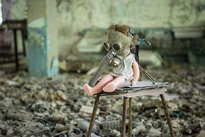 Pop met gasmasker Tsjernobyl